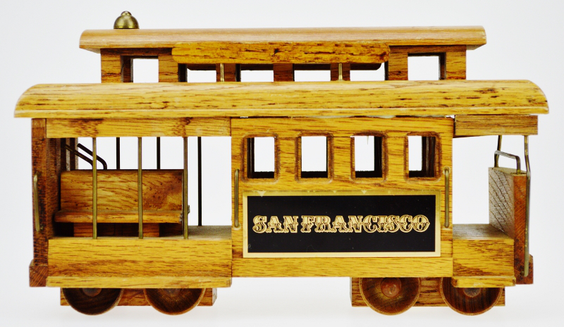 Elegant San Francisco Wooden Cable Car Music Box   Image 7 Of 12