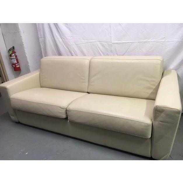 Capri Italian Leather Sleeper Sofa - Image 2 of 7