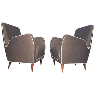 Pair of Italian Club Chairs Attributed to Paolo Buffa For Sale