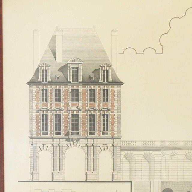 French Original Architecture Sketches Drawing Study for Place Des Vosges in Paris For Sale - Image 3 of 10