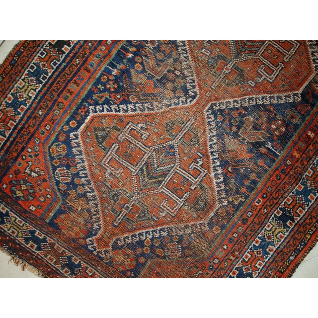 1910s Antique Persian Shiraz Rug - 3′9″ × 5′ - Image 11 of 11