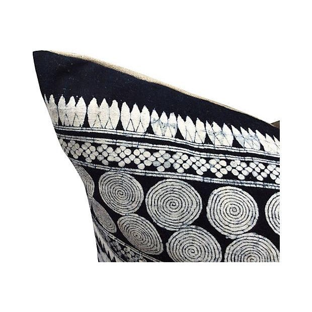 Tribal Indigo Batik Pillows - Pair - Image 4 of 6