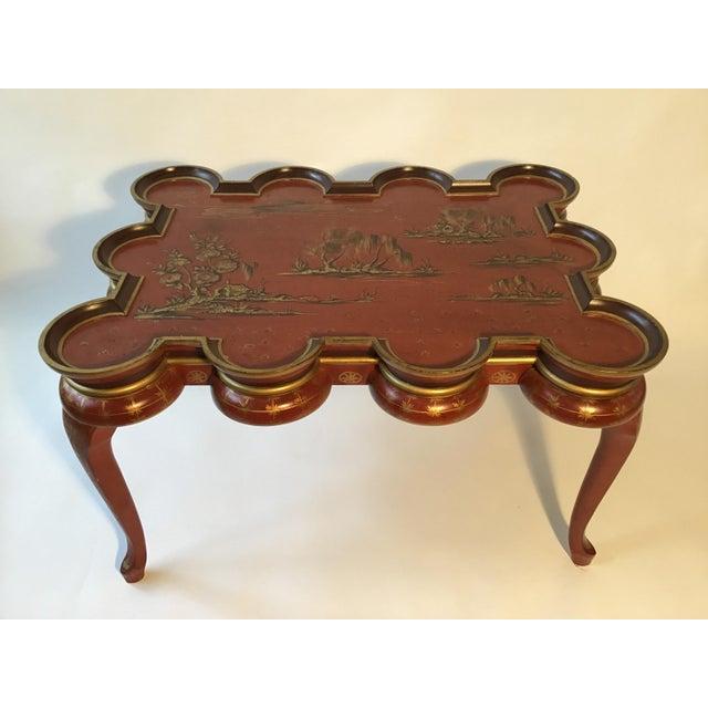 Italian hand painted Chinoiserie coffee table. Great shape!