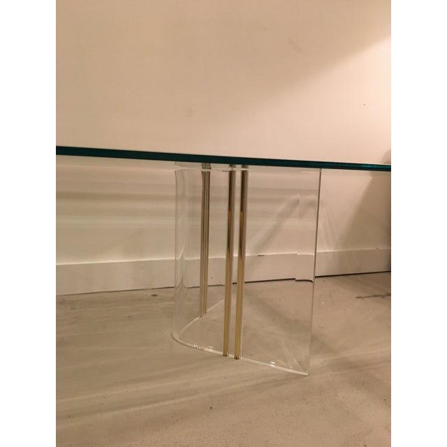 1950s Lucite cocktail table For Sale - Image 5 of 7
