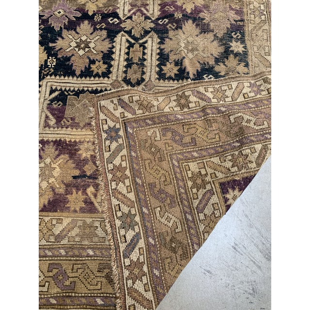 Boho Chic Antique Caucasian Wool Rug - 3′8″ × 5′1″ For Sale - Image 3 of 7