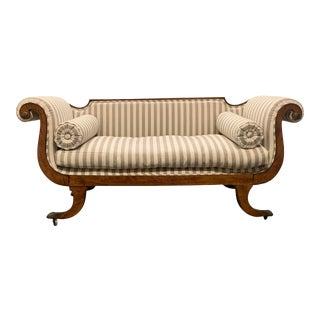 Antique Swedish Biedermeier Empire Sofa For Sale