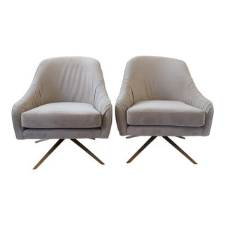 Roar & Rabbit Swivel Chairs- A Pair For Sale