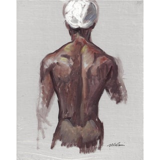 "Peter Oil Painting ""Man With Turban 2"", Contemporary Nude Figure For Sale"