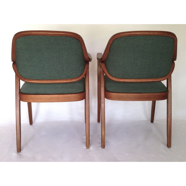 Knoll Bentwood Armchairs by Don Petitt- a Pair - Image 4 of 6
