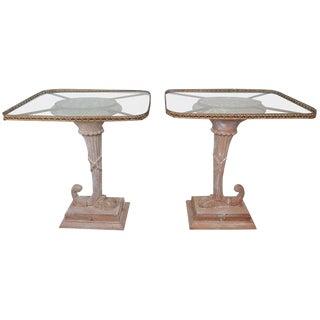 Italian Neoclassical Style Cornucopia Side Tables, Pair For Sale