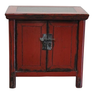 1860s Small Red Cupboard For Sale