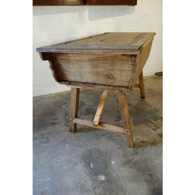 19th Century Italian Rustic Tuscan Farmhouse Console Table For Sale In San Diego - Image 6 of 13