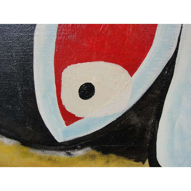 Vintage Abstract Expressionist Oil on Canvas Painting - Image 5 of 8