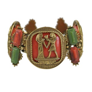 Egyptian Revival Bracelet For Sale