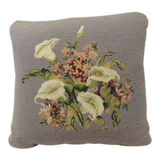 Vintage Purple Floral Tapestry Decorative Pillow For Sale