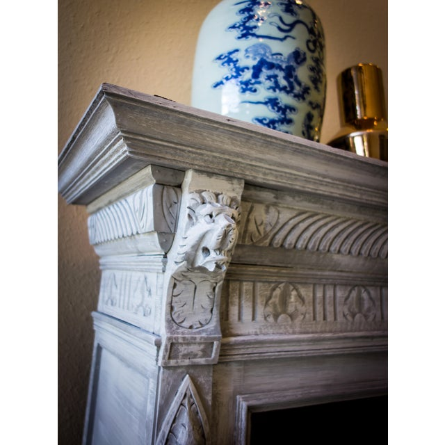 Renaissance Revival Painted Carved Sideboard - Image 11 of 11
