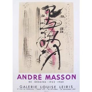 1960 Andre Masson Exhibition Poster, 80 Dessins