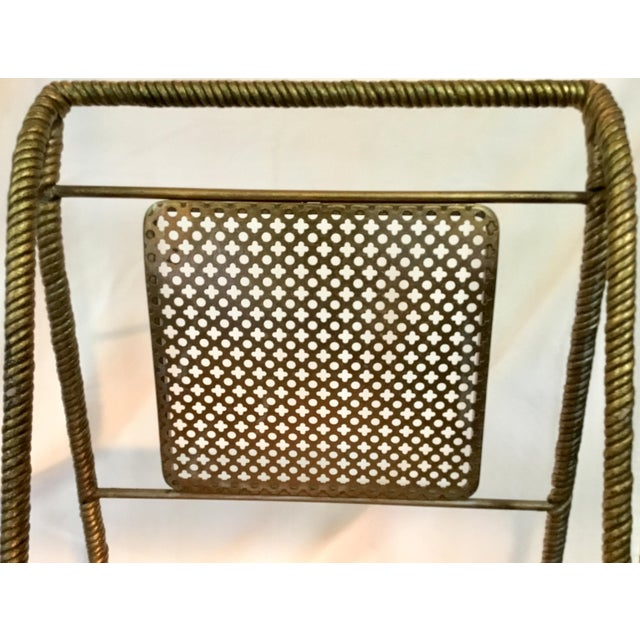 Gold Gilt Metal Chairs - Set of 6 For Sale - Image 8 of 13