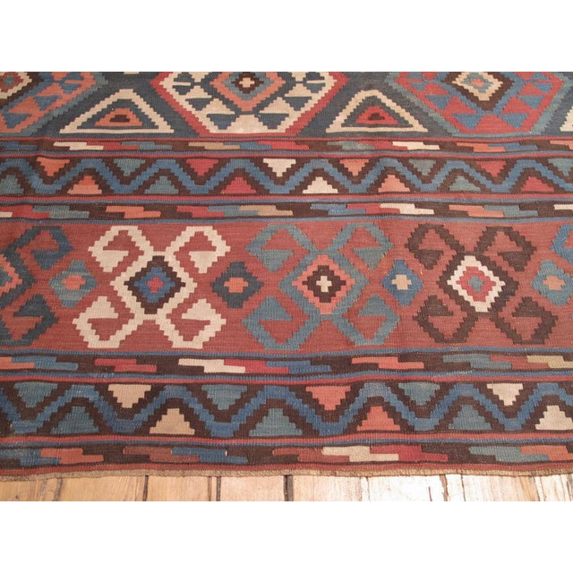 Shirvan Kilim For Sale In New York - Image 6 of 8