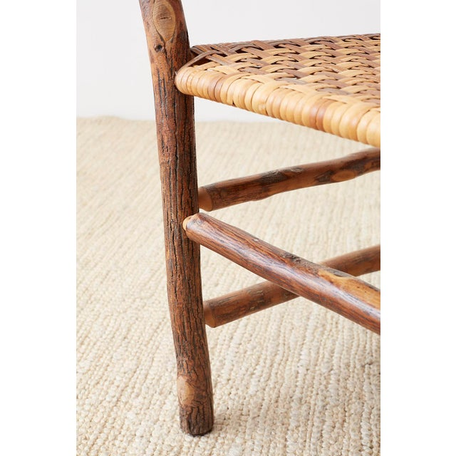 Set of Six Old Hickory Twig Hoop Adirondack Armchairs For Sale - Image 10 of 13