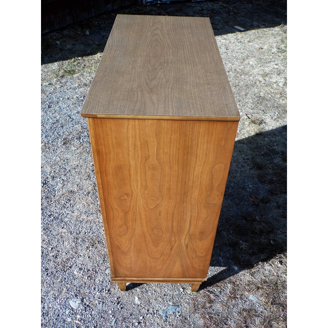 Brown Vintage Mid Century Modern Kent Coffey Walnut Highboy Dresser Chest the Nomad For Sale - Image 8 of 13