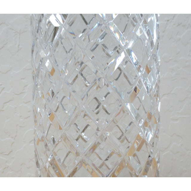 Ceska Canterbury Pattern Lead Crystal Vase For Sale - Image 4 of 5