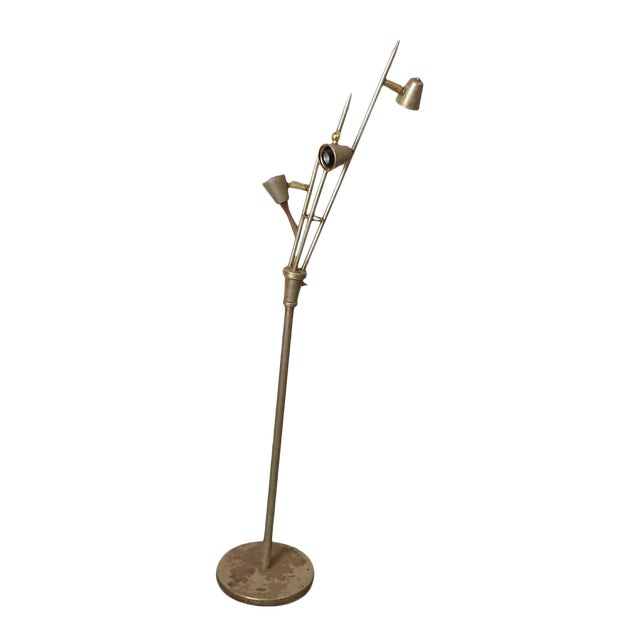 Mid-Century Metal Floor Lamp - Image 1 of 7