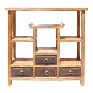 Chinese Wooden Table Top Curio Display Stand