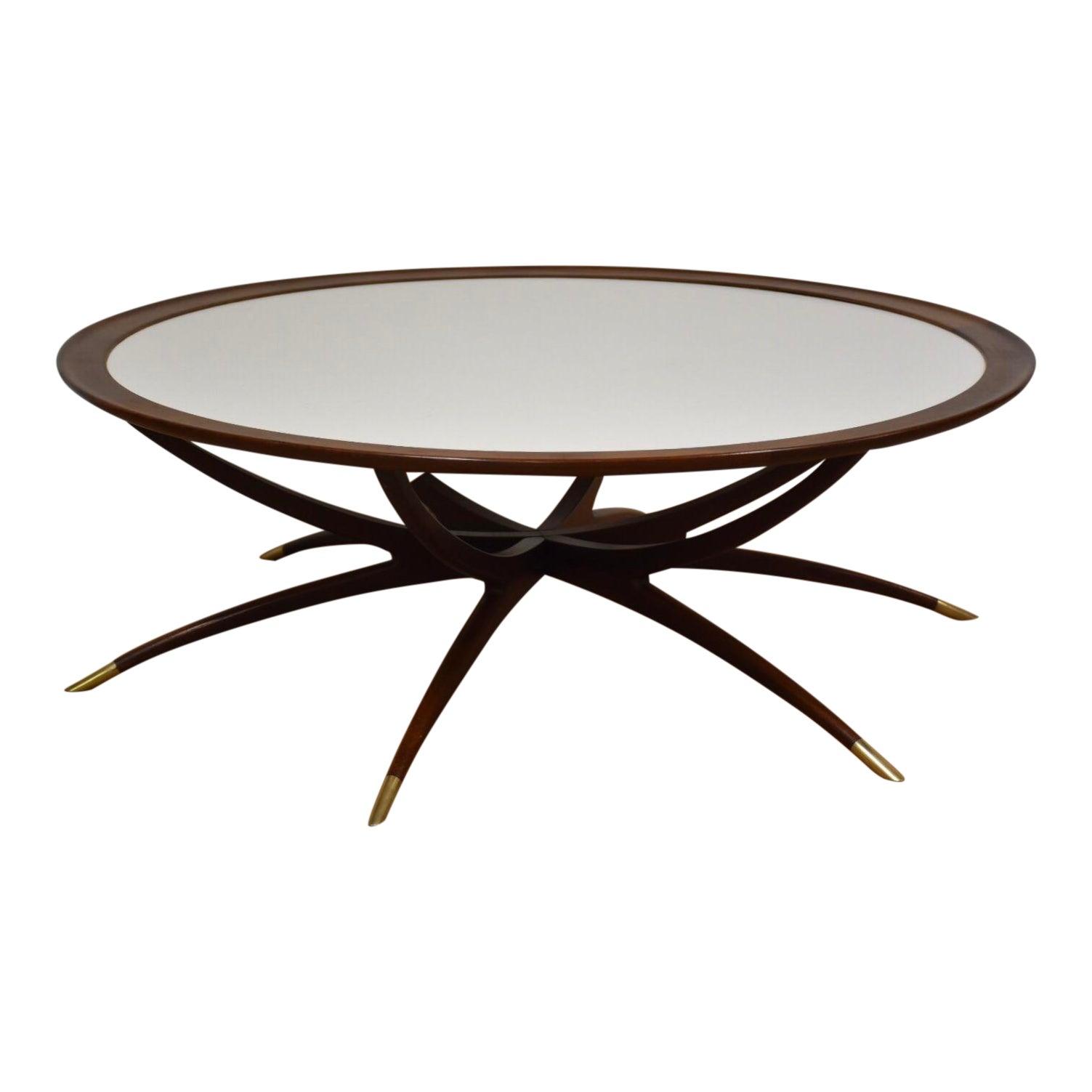 Danish Spider Leg Round Coffee Table Chairish