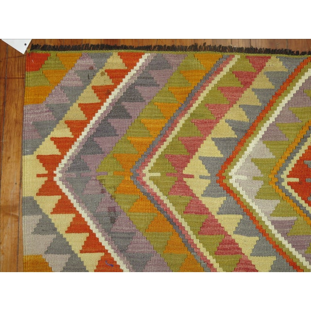 Vintage Turkish Kilim - 6′4″ × 10′5″ - Image 6 of 6