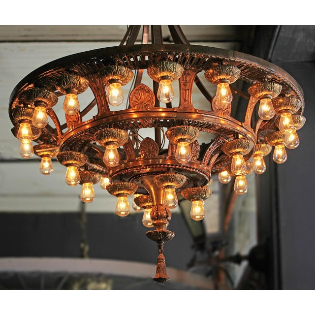 2010s Late 20th Century Beaux Arts Style Chandelier For Sale - Image 5 of 7