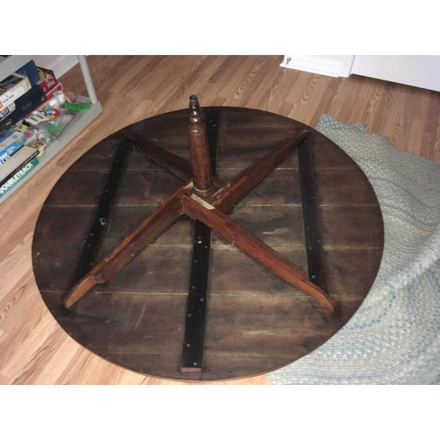 Wood 20th Century Revolving Country Round Dining Table For Sale - Image 7 of 10