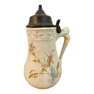 Antique Bennett's Patent Stein Style Syrup Pitcher For Sale