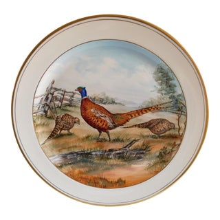 Vintage Abercrombie & Fitch Co. Frank Vosmansky Pheasant Plate For Sale