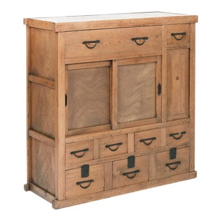 20th Century Elmwood Tansu Chest For Sale
