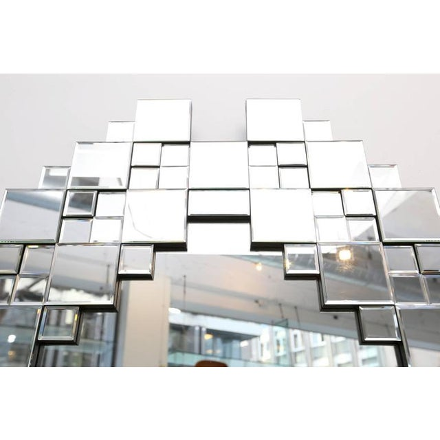 Modern Cubist 1970s Mirror For Sale - Image 3 of 5
