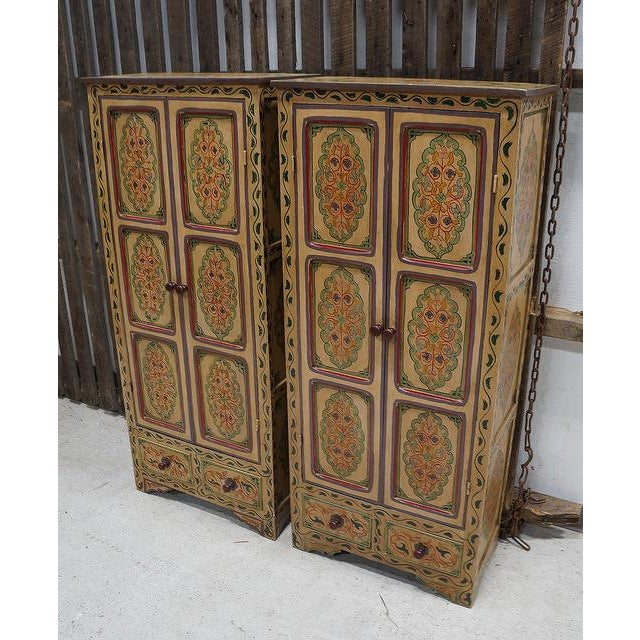 Bohemian Hand Painted Linen Chests - A Pair - Image 4 of 4