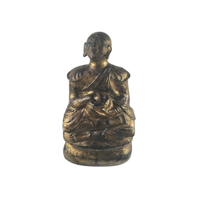 1930s Gilded Sitting Medicine Buddha Sculpture - Image 1 of 10