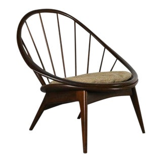 Ib Kofod-Larsen for Selig Hoop Chair - Peacock Chair, Denmark For Sale
