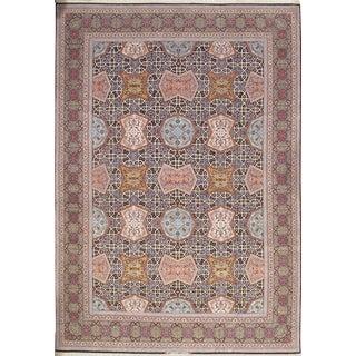 Pasargad N Y Persian Isfahan Handmade Silk & Wool Rug - 10' X 14' For Sale