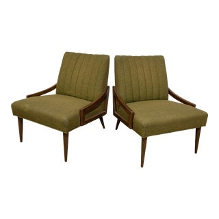 Mid Century Modern Upholstered Chairs by Kroehler- A Pair For Sale