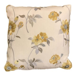 Silver & Gold Floral Pillow