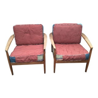 Mid-Century DUX Teak Chairs- A Pair For Sale