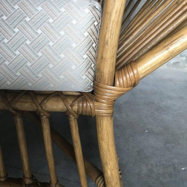 Tan 1980s Franco Albini Rattan Chair and Ottoman Set For Sale - Image 8 of 12