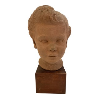 Clay Bust of Child For Sale