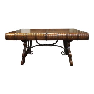 Traditional Theoeore Alexander Leather Top Coffee Book Faux Table For Sale