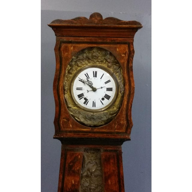 Antique 19th Century French Grandfather Clock (Morbier) For Sale - Image 4 of 13