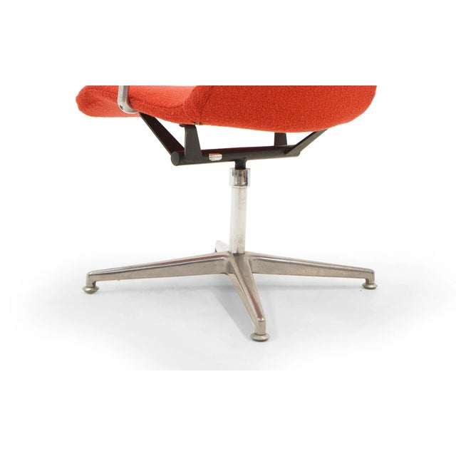 George Nelson Desk or Office Chair, Very Rare, New Red Boucle Knoll Upholstery For Sale In Kansas City - Image 6 of 8