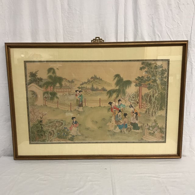 Chinese Pastoral Scene on Silk - Image 2 of 9