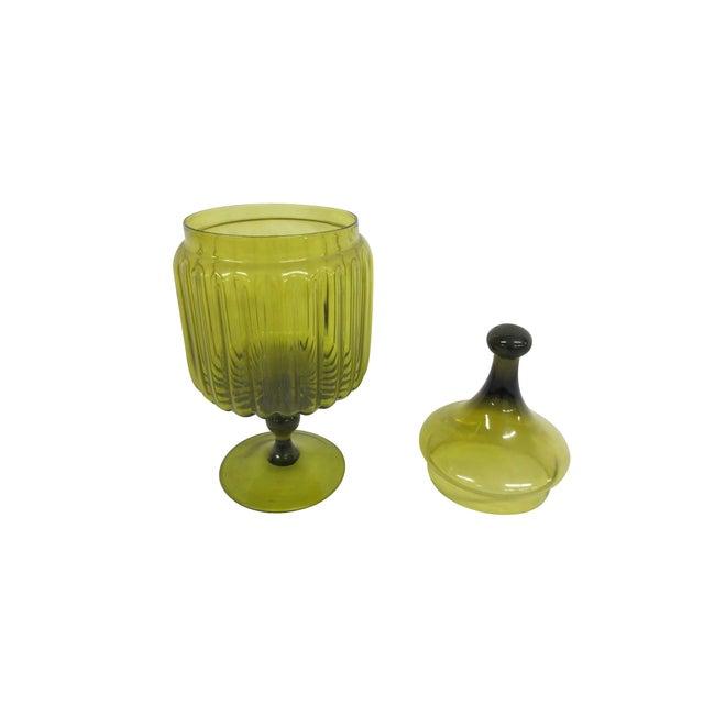 Green Glass Bon-Bon Dish - Image 3 of 5